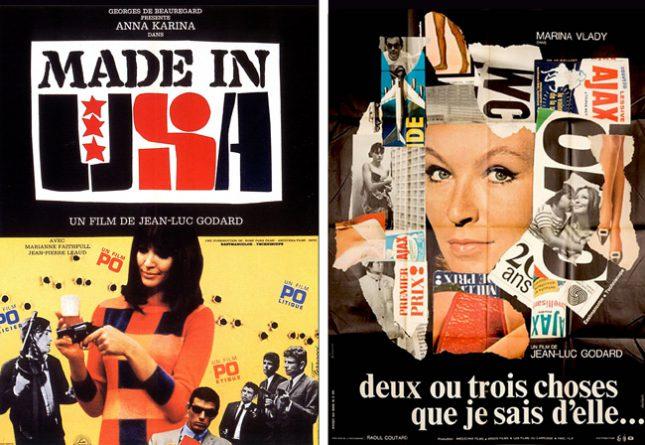 cartazes Godard